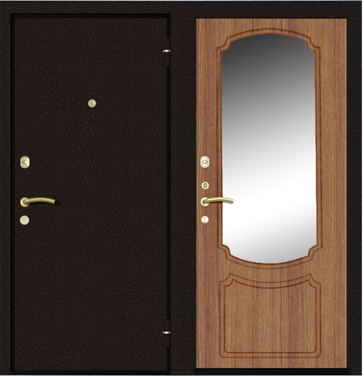 двери металлические эконом с установкой